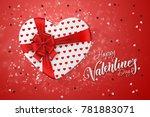 happy valentine's day festive... | Shutterstock . vector #781883071