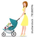 the figure shows a girl with a... | Shutterstock .eps vector #78188596