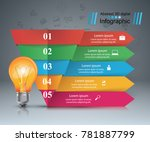 infographic design template and ... | Shutterstock .eps vector #781887799