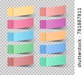 business infographics origami... | Shutterstock .eps vector #781887811