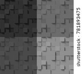 set of mosaics made of dark... | Shutterstock .eps vector #781893475