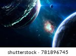 cosmic landscape  beautiful... | Shutterstock . vector #781896745