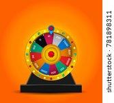 color lucky wheel template.... | Shutterstock .eps vector #781898311