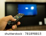 man hand using remote control...   Shutterstock . vector #781898815