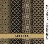 set of art deco seamless... | Shutterstock .eps vector #781899745