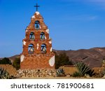 bell tower of a spanish mission ... | Shutterstock . vector #781900681