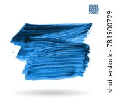 blue brush stroke and texture.... | Shutterstock .eps vector #781900729