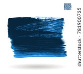 blue brush stroke and texture.... | Shutterstock .eps vector #781900735