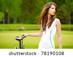womans golf | Shutterstock . vector #78190108