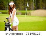 womans golf | Shutterstock . vector #78190123