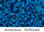 light blue vector low poly... | Shutterstock .eps vector #781901665