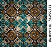 vector seamless abstract... | Shutterstock .eps vector #781902931