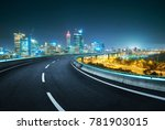 blue neon light design highway... | Shutterstock . vector #781903015