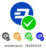 valid dashcoin icon. vector... | Shutterstock .eps vector #781903159