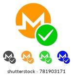 valid monero icon. vector... | Shutterstock .eps vector #781903171