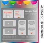 corporate web design | Shutterstock .eps vector #78190819