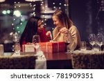 two adolescent women sitting in ... | Shutterstock . vector #781909351