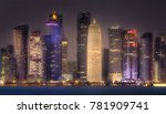the skyline of west bay and...   Shutterstock . vector #781909741