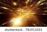 abstract gold background.... | Shutterstock . vector #781911031