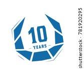 10 years design template.... | Shutterstock .eps vector #781920295
