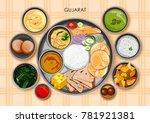 illustration of traditional... | Shutterstock .eps vector #781921381