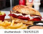 turkish traditional snack... | Shutterstock . vector #781925125