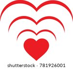 love wifi signal symbol concept | Shutterstock .eps vector #781926001