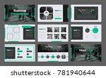 business presentation slides... | Shutterstock .eps vector #781940644