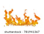 fire flames isolated on white... | Shutterstock . vector #781941367
