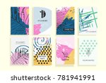 collection of creative... | Shutterstock . vector #781941991