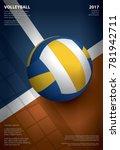 volleyball tournament poster ... | Shutterstock .eps vector #781942711