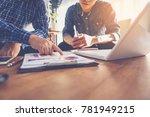 business people meeting design... | Shutterstock . vector #781949215