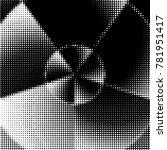 abstract grunge grid polka dot... | Shutterstock .eps vector #781951417