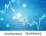 stock market graph and bar... | Shutterstock . vector #781954441