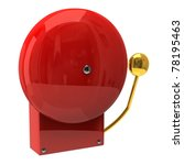 Red Fire Alarm Isolated On...