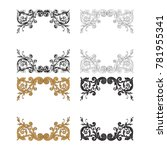 classical baroque vector set of ... | Shutterstock .eps vector #781955341