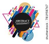 abstract geometric design...   Shutterstock .eps vector #781958767