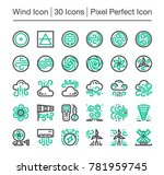 wind line icon editable stroke... | Shutterstock .eps vector #781959745