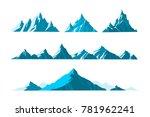 vector illustration mountains... | Shutterstock .eps vector #781962241
