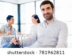 young man in casual in office   Shutterstock . vector #781962811