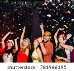 night party groups of friends... | Shutterstock . vector #781966195