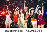 night party groups of friends... | Shutterstock . vector #781968055