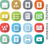 flat vector icon set  ... | Shutterstock .eps vector #781969954