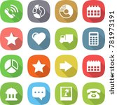 flat vector icon set   call... | Shutterstock .eps vector #781973191