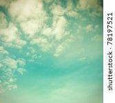 retro sky | Shutterstock . vector #78197521