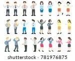 flat style modern business... | Shutterstock .eps vector #781976875