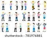 flat style modern business... | Shutterstock .eps vector #781976881