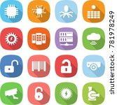 flat vector icon set   chip... | Shutterstock .eps vector #781978249