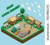 Farm Local Market Isometric...