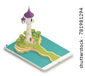 tall fairy tale tower and...   Shutterstock .eps vector #781981294